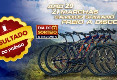 Resultado do sorteio das 4 Mountain Bike's